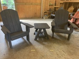 2x Adult Adirondack Chairs, 1x Standard Table – Bundle
