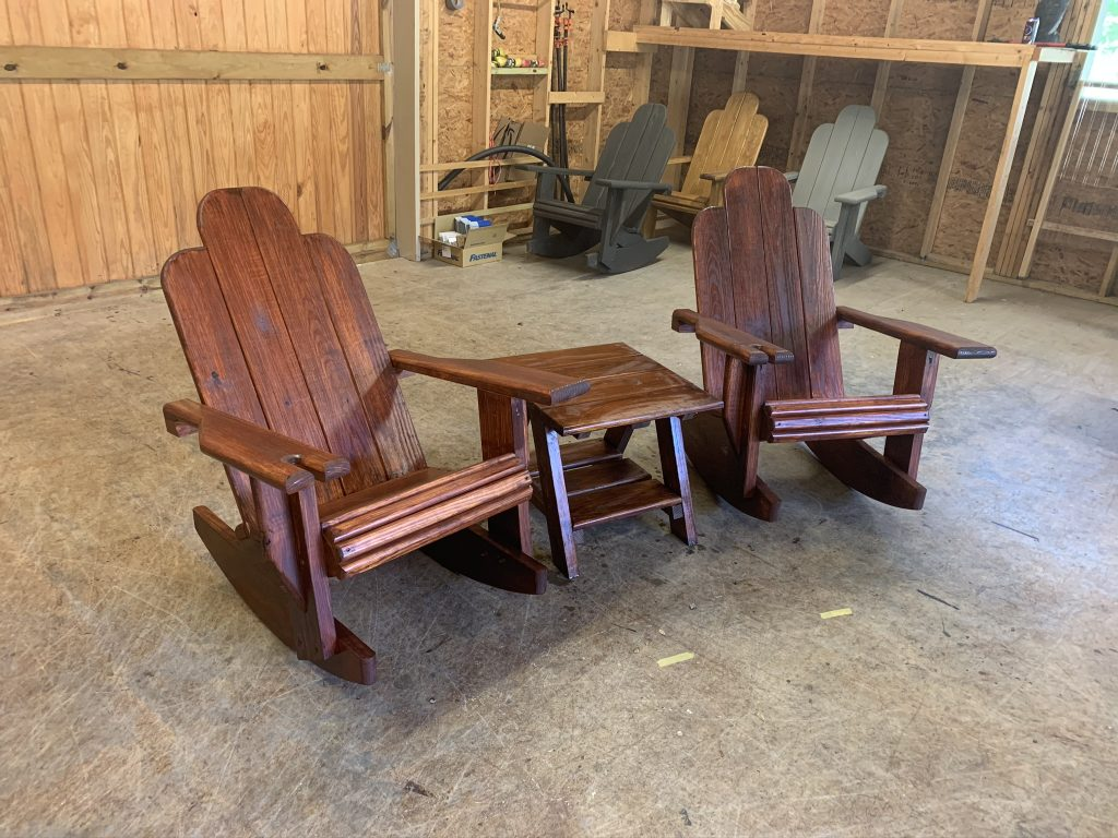2x Adirondack Rocking Chair, x1 Standard Table – Bundle
