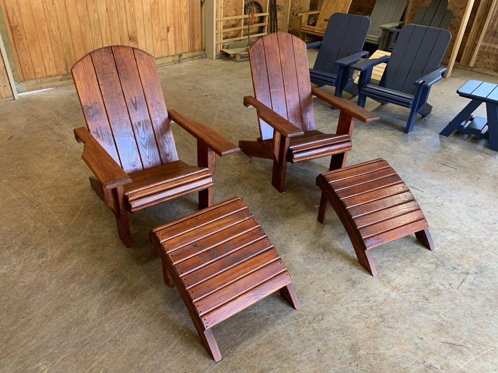 2x Adult Adirondack Chair, x2 Standard Table Or 2x Ottoman – Bundle